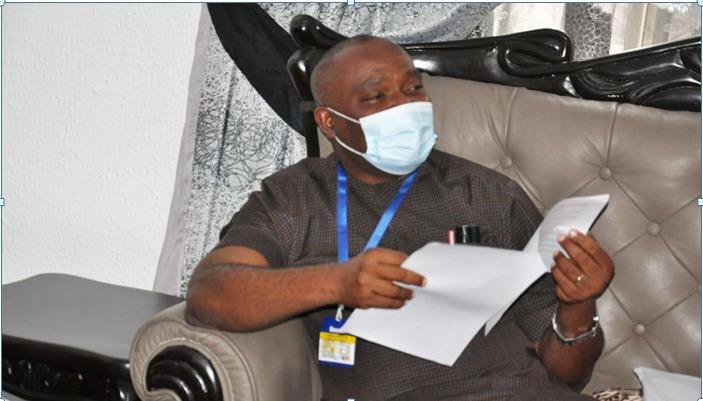 VC, Prof. Nwajiuba speaking during the visit
