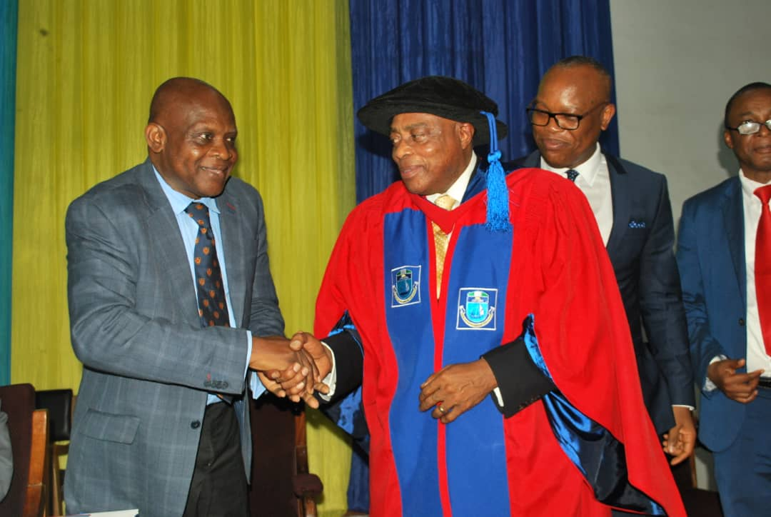 40th Year Celebration of Medical Education in the College of Health Sciences University of Port Harcourt on 3rd December 2019. Induction of Emeritus Professor Nimi Briggs as Medical Elder